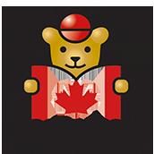 加拿大枫叶小熊学校校徽logo图片