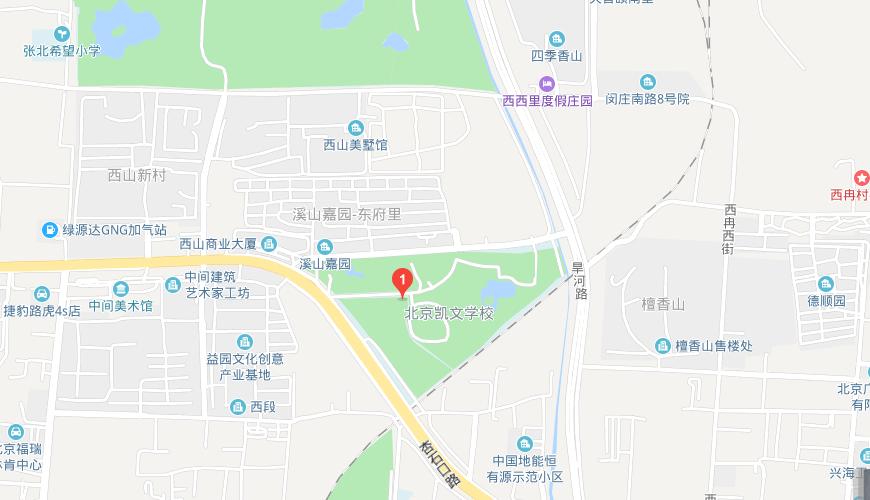 北京海淀凯文学校地图图片
