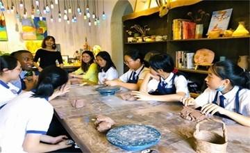【Hi,南京汉开书院!】双语部   夏季艺术展——陶艺体验课图片