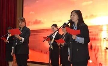 青岛国开中学国际部朗诵:诵读经典,做博雅少年图片