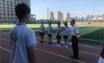 青岛威德明特双语学校军训课程,从细节处体现团队精神图片