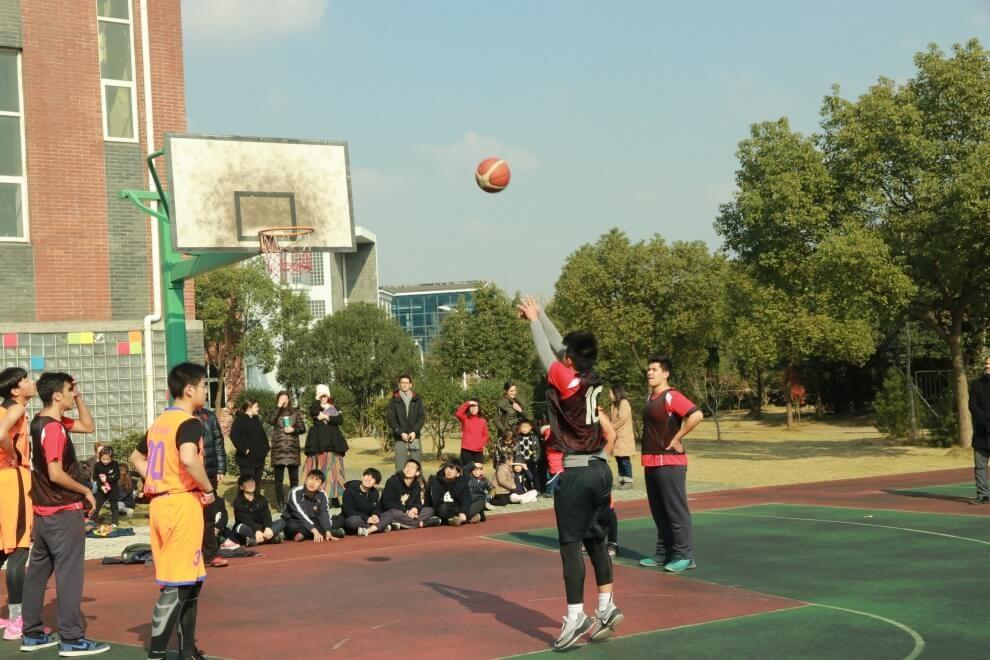 宁波至诚学校中美高中篮球赛图集