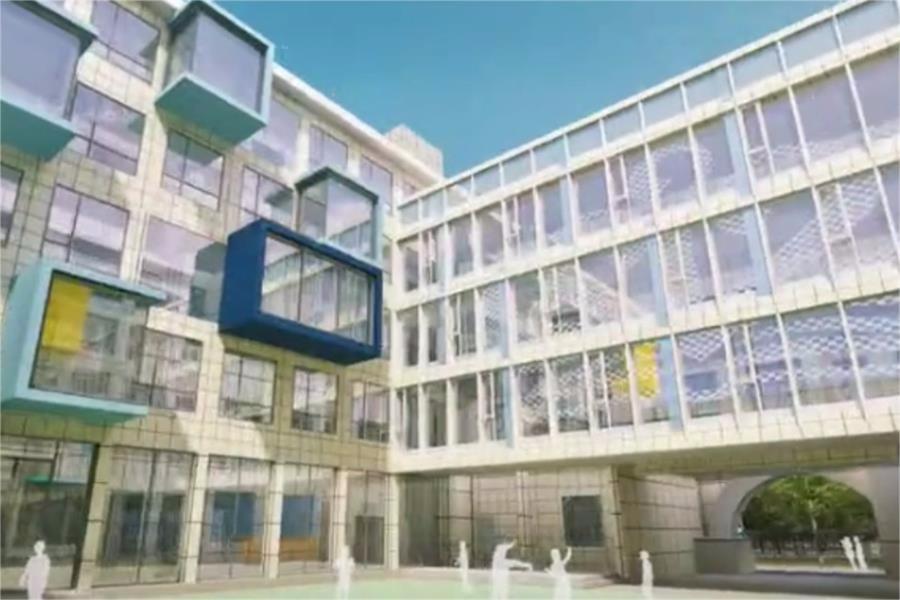 宁波市奉化区诺德安达学校校园风景图集