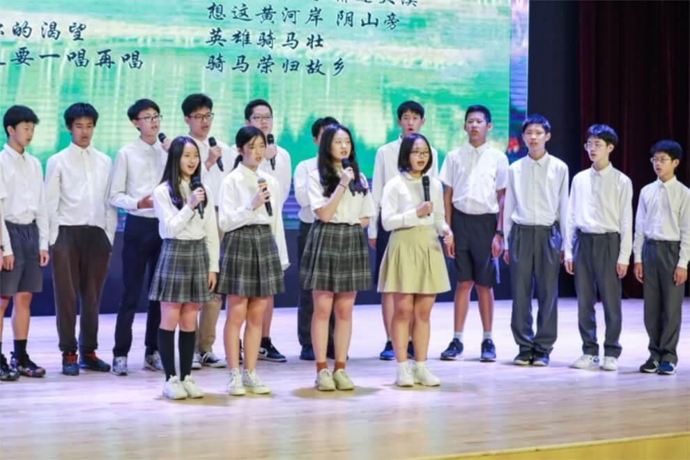 北京海淀凯文学校诗歌朗诵会图集