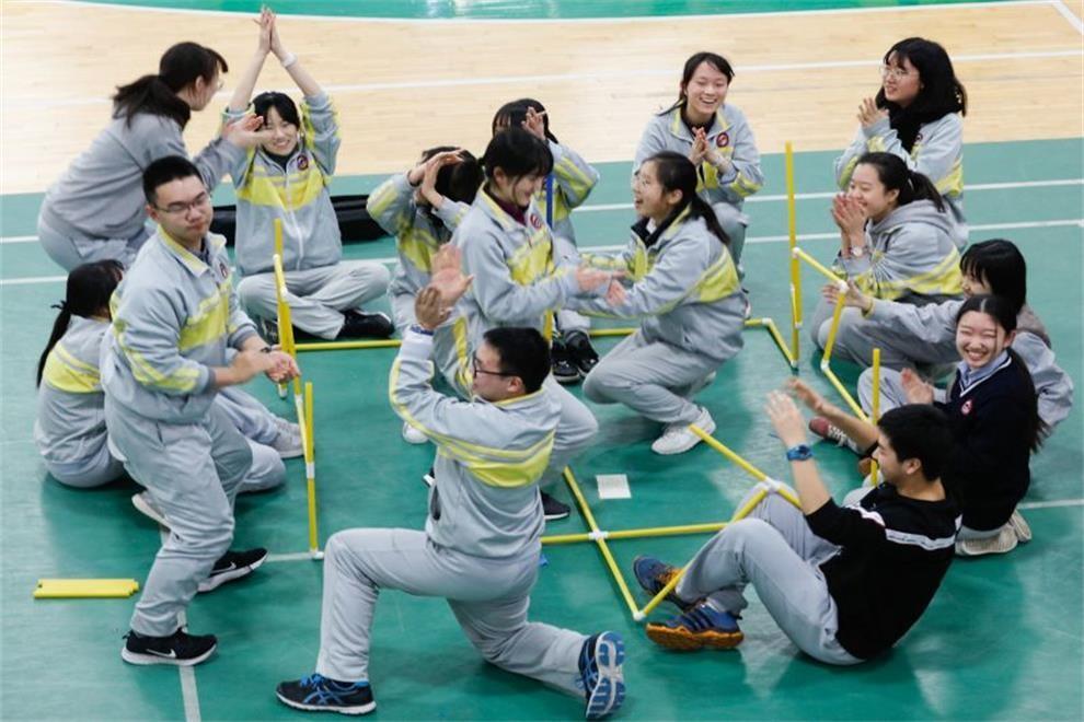 北京市第二中学国际部心理拓展活动图集
