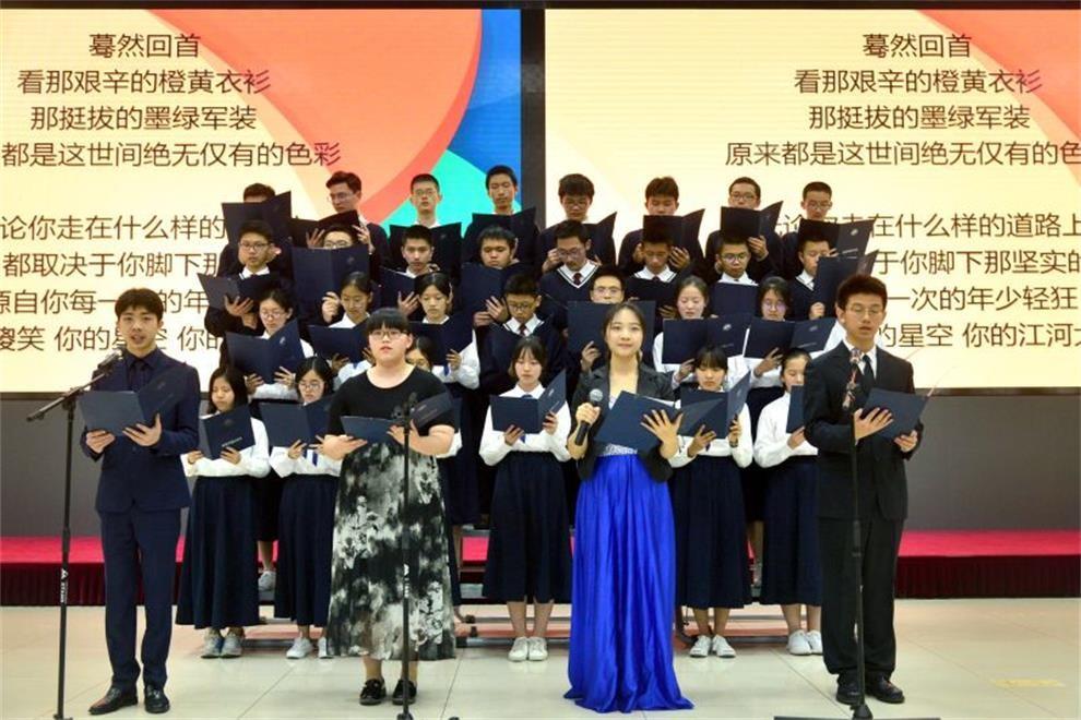 北京市第二中学国际部原创诗歌朗诵比赛图集