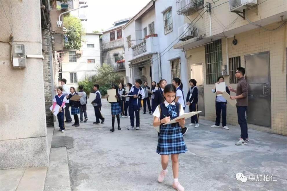广东中加柏仁学校绘画写生图集
