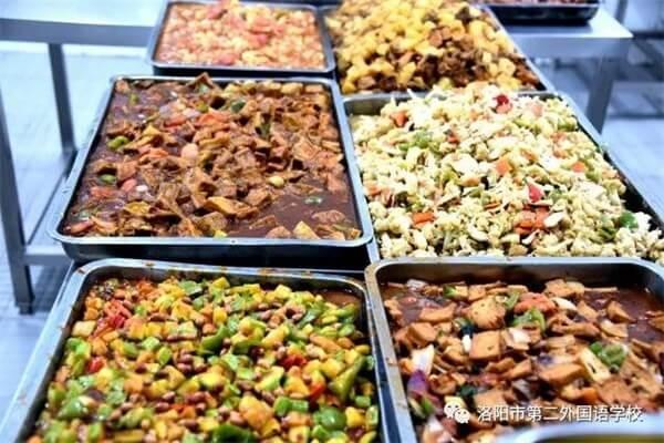 洛阳市第二外国语学校国际部食堂美食图集