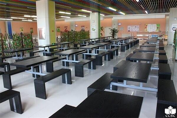哈尔滨市鹰沙中加学校食堂风采图集