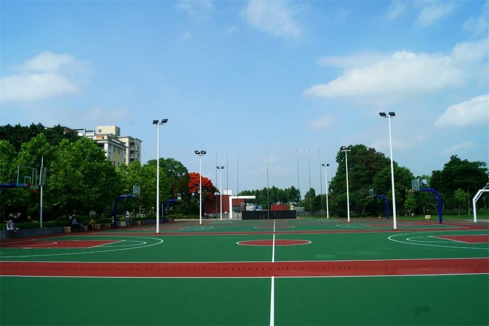 东莞市翰林实验学校国际部学校篮球灯光球场图集