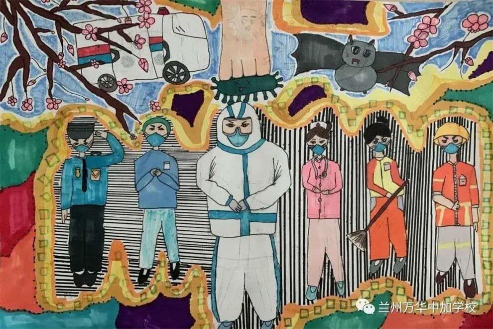 兰州万华中加学校绘画图集