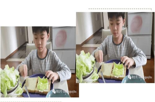 青岛国开中学国际部制作三明治活动图集