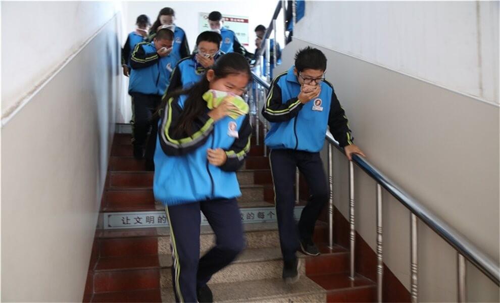 山东省淄博第十一中学国际部消防疏散演练图集