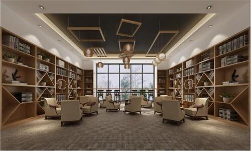 长沙市长郡中学国际部阅览室图集