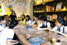 双语部   夏季艺术展—陶艺体验课图片
